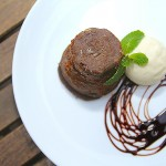 Warm Chocolate Cake from the Cafe Roma Winter Menu Update