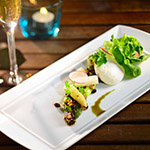 Cafe Roma_Valentine's Day Menu 2014_Grilled Green Asparagus & Poached White Asparagus
