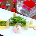 CR_Valentine's 2015_Grilled Green Asparagus & Poached White Asparagus